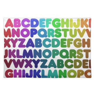 Colorful Alphabet for a TEACHER Cloth Placemat
