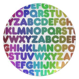 Colorful Alphabet for a TEACHER Plate