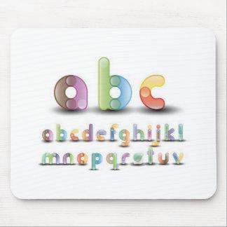 Colorful alphabet letters mouse pads