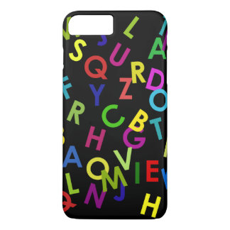 colorful alphabet letters over black iPhone 8 plus/7 plus case