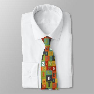 Colorful Alphabet Pattern Tie