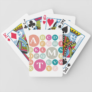 Colorful Alphabet Bicycle Playing Cards