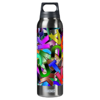 Colorful Alphabet 16 Oz Insulated SIGG Thermos Water Bottle