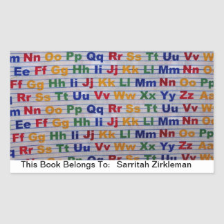 Colorful Alphabet This Book Belongs to Sticker