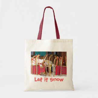 Colorful Alpine Wooden Sleds Tote Bag