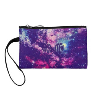 Colorful Amazing Space Invaders Key Coin Clutch