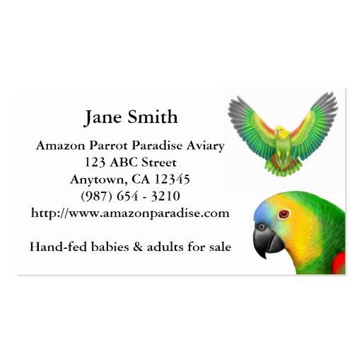Colorful Amazon Parrots Business Card