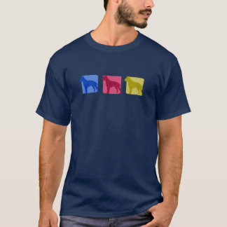 Colorful American Staffordshire Terrier Silhouette T-Shirt