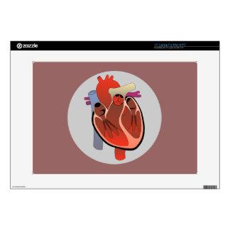 COLORFUL ANATOMICAL HEART LAPTOP SKIN