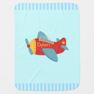 Colorful and Adorable Cartoon Aeroplane Stroller Blanket