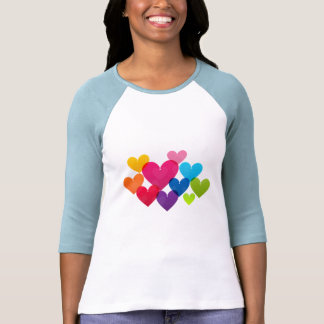 Colorful And Bright Hanging Heart Women's T-shirts