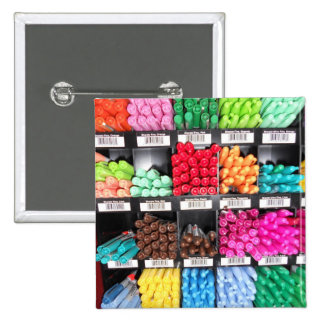 Colorful and Bright Marker Display Pinback Button