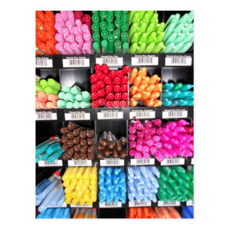 Colorful and Bright Marker Display Postcard