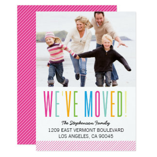Colorful and Bright Photo Moving Announcement