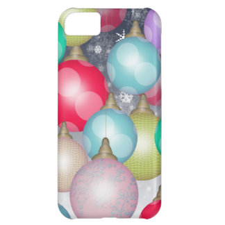 Colorful and Cheerful Christmas Ornaments Design Cover For iPhone 5C