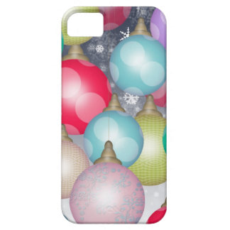 Colorful and Cheerful Christmas Ornaments Design iPhone 5 Covers