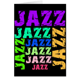 Colorful and cool jazz card