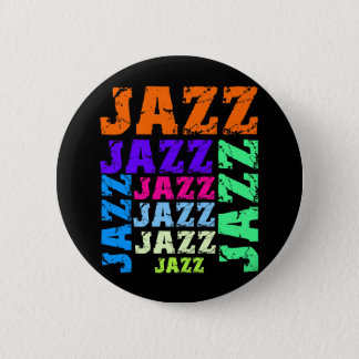 Colorful and cool jazz pinback button