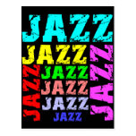 Colorful and cool jazz post cards