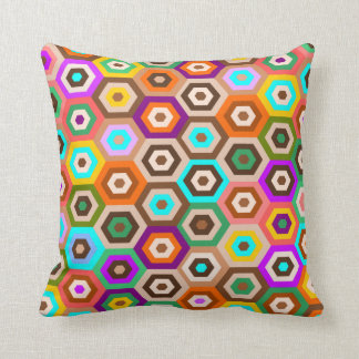 colorful and decorative hexagon pattern throw pillow
