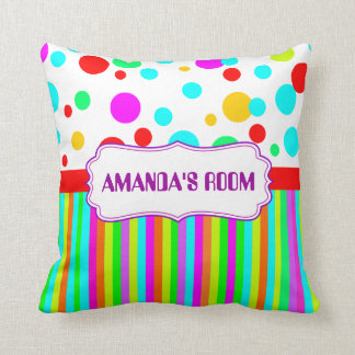 colorful and decorative name cushion pillow