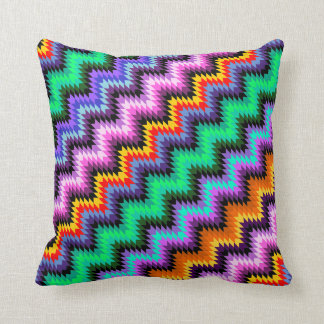 colorful and decorative spikes,ethnic style throw pillow