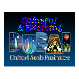 Colorful and Exciting Dubai Postcard