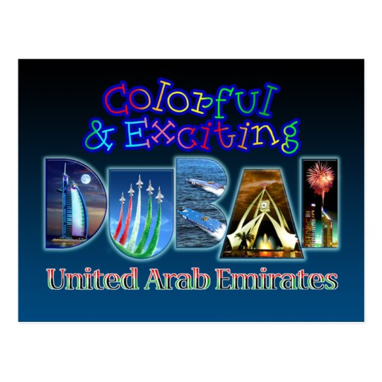 Colorful and Exciting Dubai Postcard