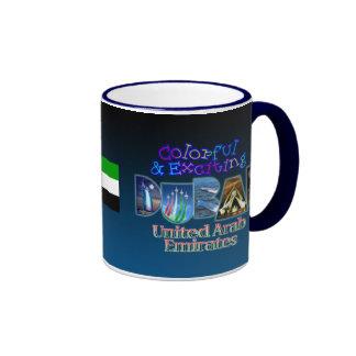 Colorful and Exciting Dubai Ringer Coffee Mug