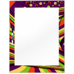 Colorful and Flowing Abstract Design Dry Erase Board