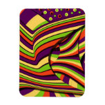 Colorful and Flowing Abstract Design Flexible Magnet