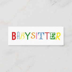 Nanny business cards templates zazzle colorful and fun babysitter nanny business card reheart Choice Image