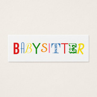 Colorful and fun babysitter / nanny business card