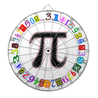 Colorful and Fun Circle of Pi Calculated Dart Board
