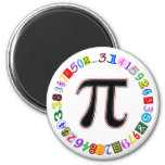 Colorful and Fun Circle of Pi Calculated Refrigerator Magnets