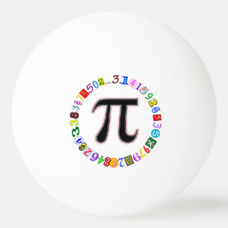 Colorful and Fun Circle of Pi Calculated Ping Pong Ball