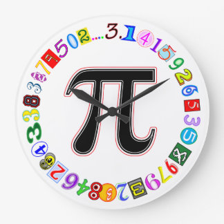 Colorful and Fun Circle of Pi Caluculated Large Clock