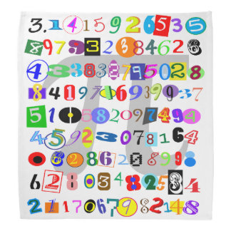 Colorful and Fun Depiction of Pi Calculated Bandana