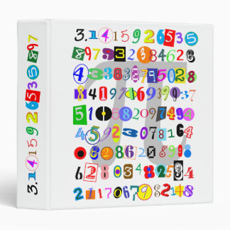 Colorful and Fun Depiction of Pi Calculated Binder