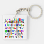 Colorful and Fun Depiction of Pi Calculated Keychains