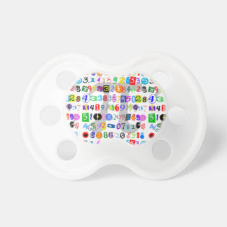 Colorful and Fun Depiction of Pi Calculated Pacifier