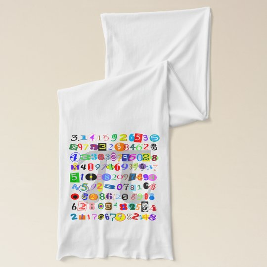 Colorful and Fun Depiction of Pi Calculated Scarf