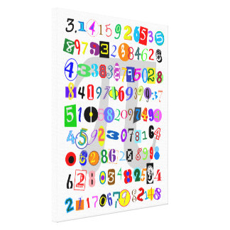 Colorful and Fun Depiction of Pi Canvas Print