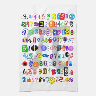 Colorful and Fun Depiction of Pi Hand Towel