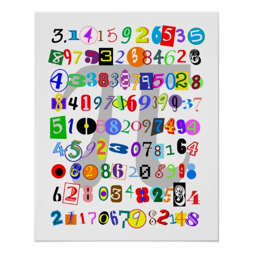 Colorful and Fun Depiction of Pi Posters