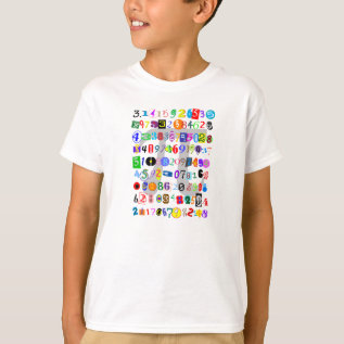 Colorful And Fun Depiction Of Pi T-shirt at Zazzle
