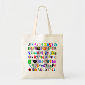 Colorful and Fun Depiction of Pi Tote Bag