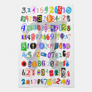 Colorful and Fun Depiction of Pi Towel