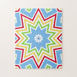Colorful and Fun Star Puzzle