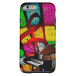 Colorful and Jazzy Treble Clef and Piano iPhone 6 Case